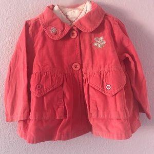 Vintage pink cotton corduroy coat